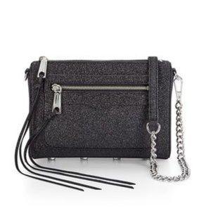 REBECCA MINKOFF Avery Crossbody Bag Black Glitter
